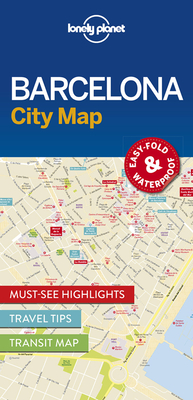 Lonely Planet Barcelona City Map 1 Cover Image