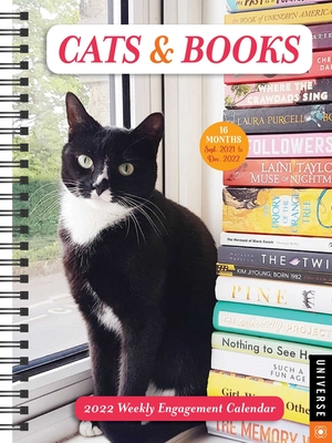Cats & Books 16-Month 2021-2022 Weekly Engagement Calendar Cover Image