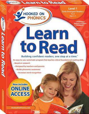Hooked on Phonics Learn to Read - Level 1: Early Emergent Readers (Pre-K | Ages 3-4) Cover Image