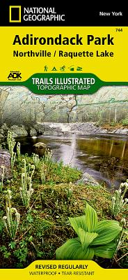 Northville, Raquette Lake: Adirondack Park (National Geographic Trails Illustrated Map #744) Cover Image