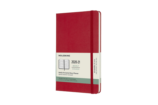 Moleskine 2020-21 Weekly Horizonal Planner, 18M, Large, Scarlet Red, Hard Cover (5 x 8.25) Cover Image