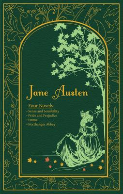 Jane Austen: Four Novels (Leather-bound Classics) Cover Image