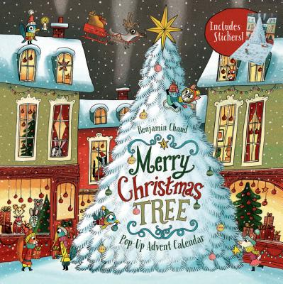 Merry Christmas Tree Pop-Up Advent Calendar: (Books for Family Holiday Games, Christmas Tree Advent Calendar) Cover Image