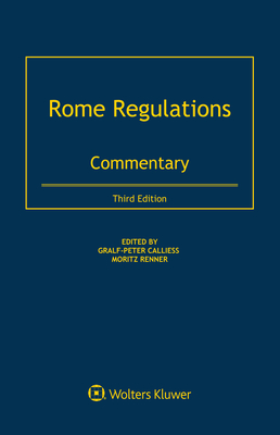 Rome Regulations: Commentary Cover Image