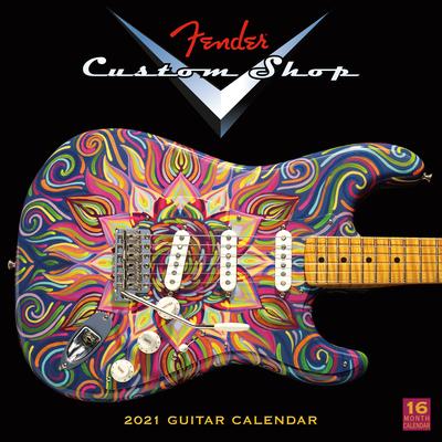 2021 Fender Custom Shop Guitar 16-Month Wall Calendar Cover Image