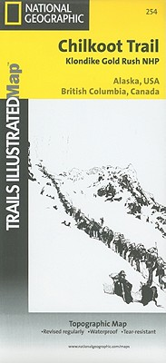 Chilkoot Trail, Klondike Gold Rush National Historic Park (National Geographic Trails Illustrated Map #254) Cover Image
