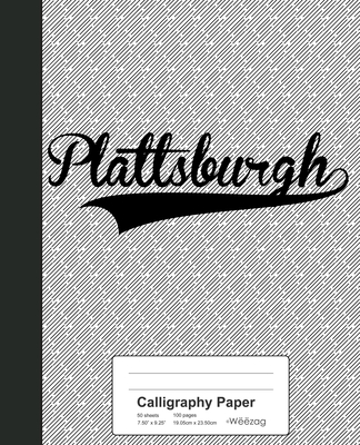 Calligraphy Paper: PLATTSBURGH Notebook Cover Image