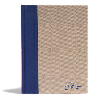 Cover for KJV Spurgeon Study Bible, Navy/Tan Cloth-over-Board