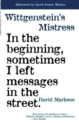 Wittgenstein's Mistress Cover