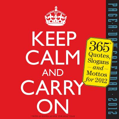 Keep Calm and Carry On 2012 Calendar Cover Image