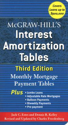 McGraw-Hill's Interest Amortization Tables, Third Edition Cover Image