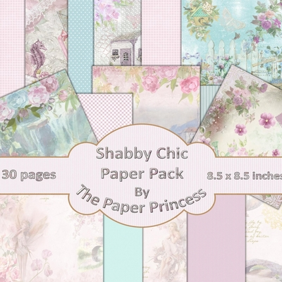 30 x 12 x12 Shabby Chic Scrapbook Pad Cover Image