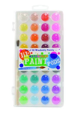 Lil Watercolor Paint Pods & Brush - 37 PC Set Cover Image