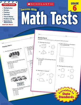 Scholastic Success With Math Tests: Grade 6 Workbook Cover Image