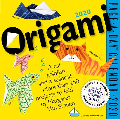 Origami Page-A-Day Calendar 2020 Cover Image
