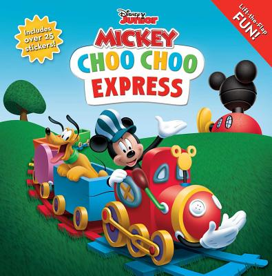 Disney Mickey Mouse Clubhouse: Choo Choo Express Lift-the-Flap (8x8 with Flaps) Cover Image
