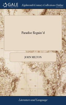 Cover for Paradise Regain'd