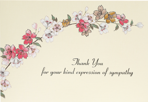 Sympathy Floral Thank You Notes (Stationery, Note Cards, Boxed Cards) Cover Image