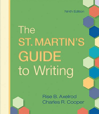 The St. Martin's Guide to Writing Cover Image