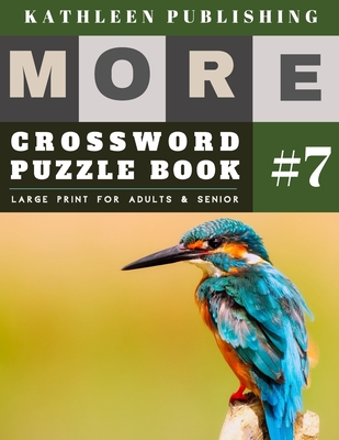 Crossword Puzzles Large Print: More Crosswords Quiz for beginners Large Print for adults & senior - Bird Design Cover Image