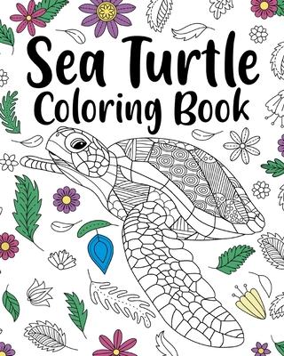 Sea Turtle Coloring Book Cover Image
