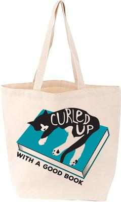 Curled Up with a Good Book Tote (Felix) Cover Image