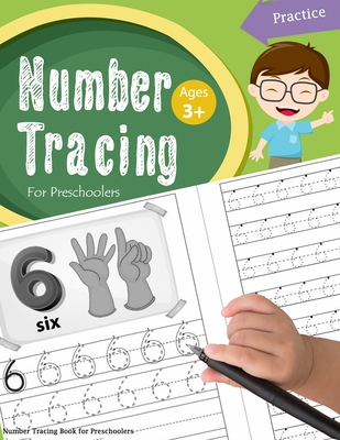 Number Tracing Book for Preschoolers: Number tracing books for kids ages 3-5, Number tracing workbook, Number Writing Practice Book, Number Tracing Bo Cover Image