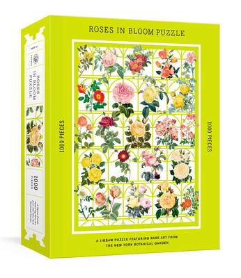 Roses in Bloom Puzzle: A 1000-Piece Jigsaw Puzzle Featuring Rare Art from the New York Botanical Garden : Jigsaw Puzzles for Adults Cover Image