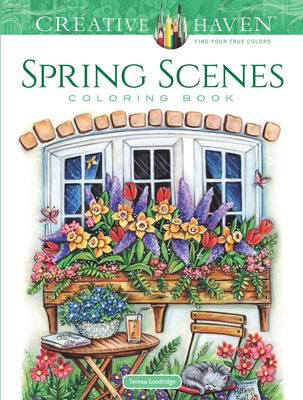 Creative Haven Spring Scenes Coloring Book (Creative Haven Coloring Books) Cover Image