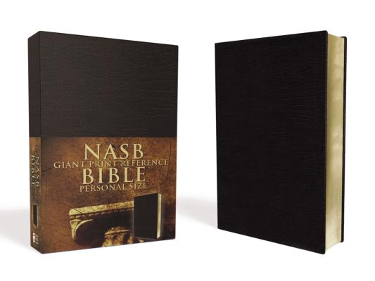 Giant Print Reference Bible-NASB-Personal Size Cover Image