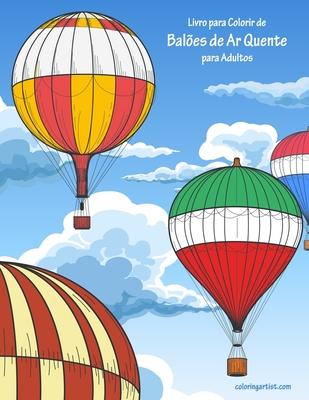 Livro para Colorir de Balões de Ar Quente para Adultos Cover Image