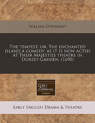 The Tempest, Or, the Enchanted Island a Comedy Cover