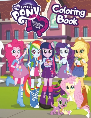 My Little Pony Equestria Girls Coloring Book: Great 34 Illustrations for Kids (2020) Cover Image