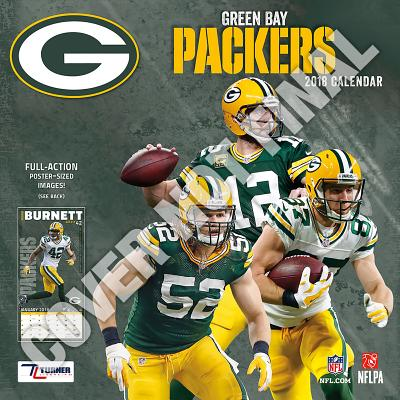 Green Bay Packers 2019 12x12 Team Wall Calendar Cover Image