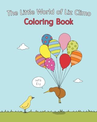 The Little World of Liz Climo Coloring Book Cover Image