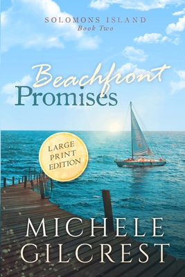 Beachfront Promises Large Print (Solomons Island Book Two) Cover Image
