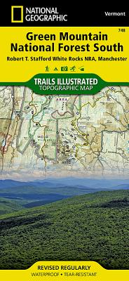 Green Mountain National Forest South [Robert T. Stafford White Rocks National Recreation Area, Manchester] (National Geographic Trails Illustrated Map #748) Cover Image