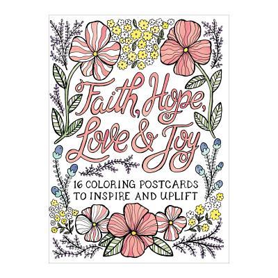 Faith Hope Love & Joy Coloring Postcards Cover Image
