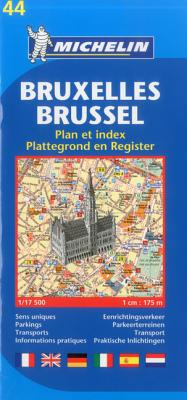 Michelin Map Brussels #44 (Maps/City (Michelin)) Cover Image
