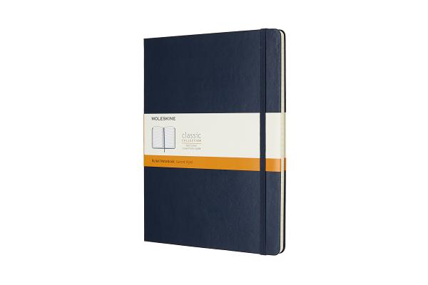 Moleskine Classic Notebook, Extra Large, Ruled, Sapphire Blue, Hard Cover (7.5 x 10) Cover Image