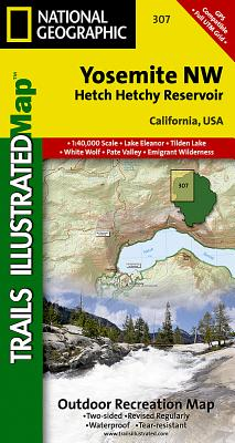 Yosemite Nw: Hetch Hetchy Reservoir (National Geographic Trails Illustrated Map #307) Cover Image