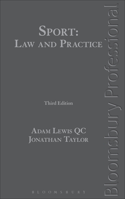 Sport: Law and Practice: Third Edition Cover Image