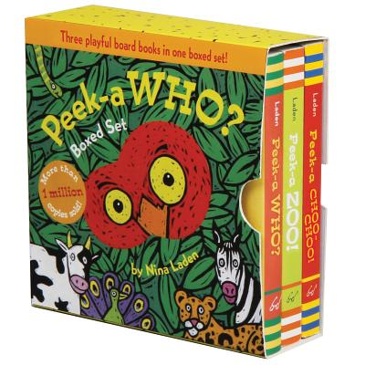 Peek-a Who? Boxed Set: (Children's Animal Books, Board Books for Kids) Cover Image
