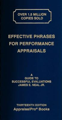 Effective Phrases for Performance Appraisals: A Guide to Successful Evaluations Cover Image