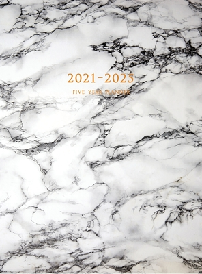 2021-2025 Five Year Planner: 60-Month Schedule Organizer 8.5 x 11 with Marble Cover (Volume 5 Hardcover) Cover Image