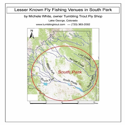 Lesser Known Fly Fishing Venues in South Park, Colorado: Every Public Access in South Park Basin outside of the Dream Stream and Eleven Mile Canyon Cover Image