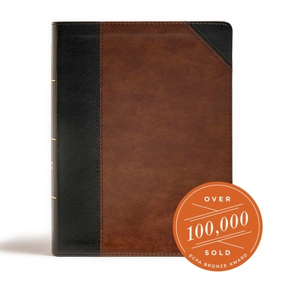 Cover for CSB Tony Evans Study Bible, Black/Brown LeatherTouch