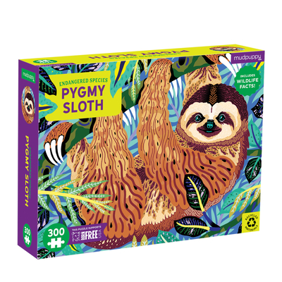 Pygmy Sloth Endangered Species 300 Piece Puzzle Cover Image
