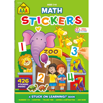 Math Stickers Workbook Cover Image