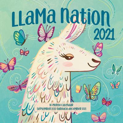 Llama Nation 2021: 16-Month Calendar - September 2020 through December 2021 Cover Image